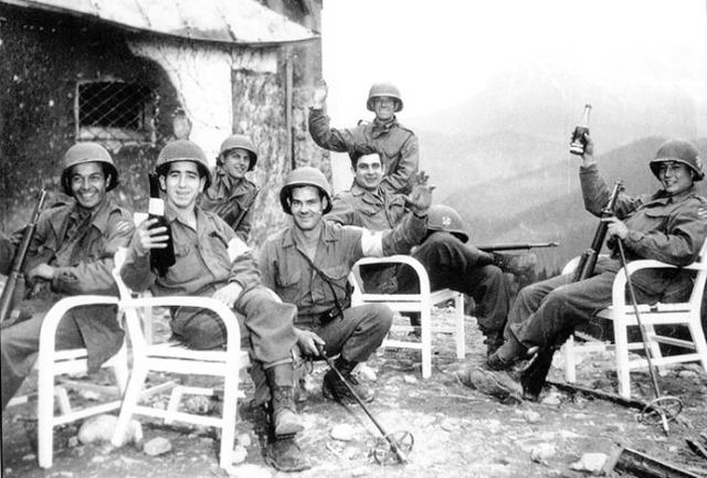 American soldiers at Hitler's house (Berghof) below the Eagle's Nest, May 4 1945