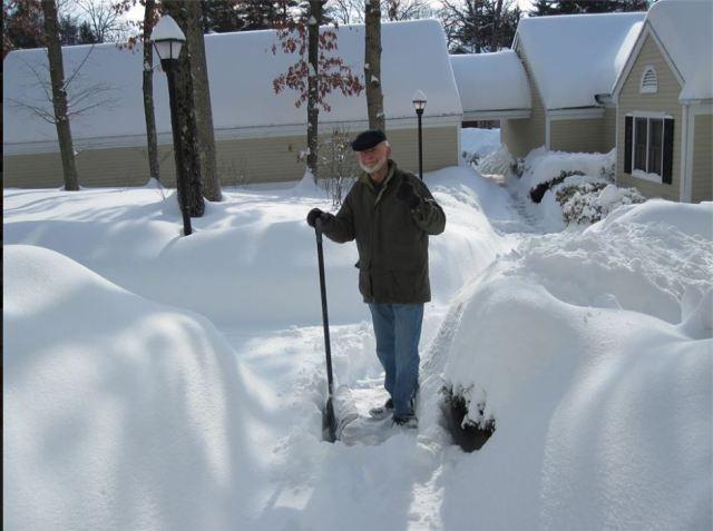 dad shoveling