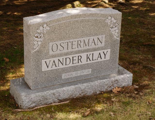 vander klay grave marker