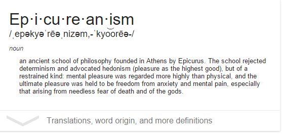 epicureanism google definition