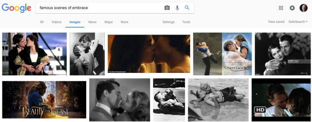 image search scenes of embrace