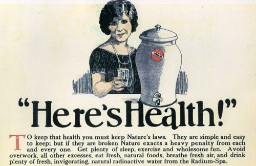 radium for good health