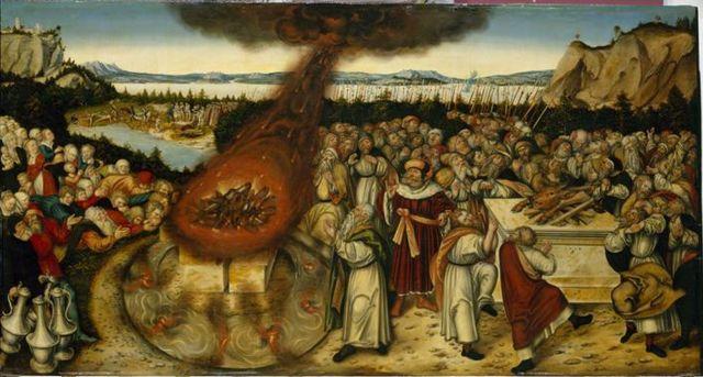 cranach lucas baal painting