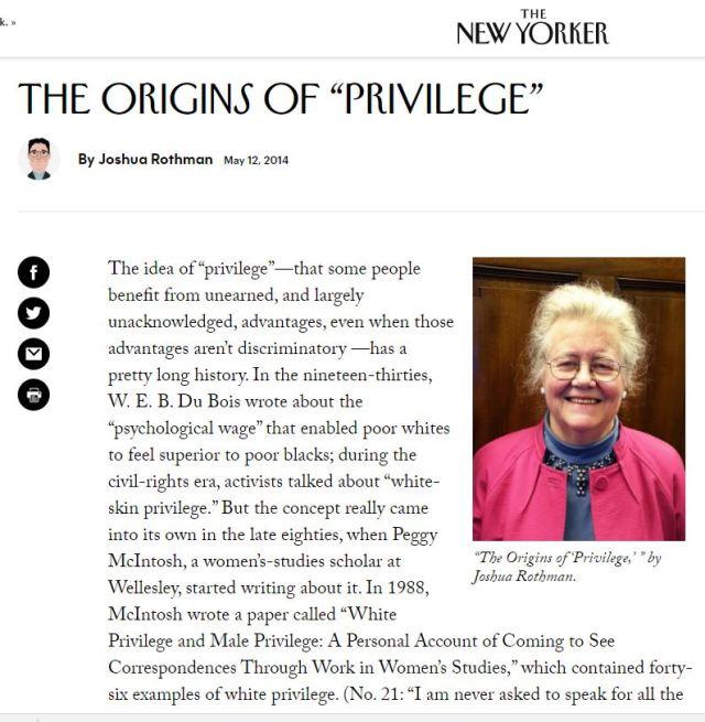 origins of privilege