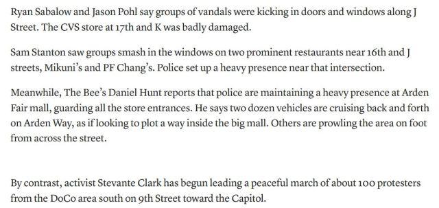 stevante clark leads protestors